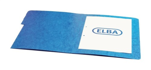 Elba Organiser File Pressboard Elasticated 5-Part Foolscap Blue Ref 100090166 [Pack 5]