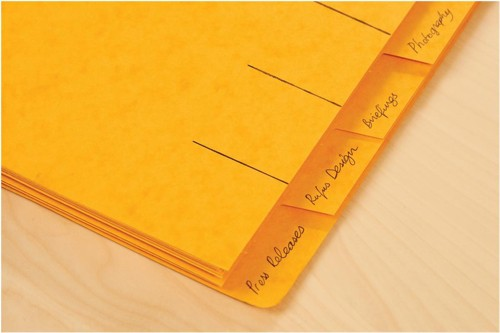 Elba Organiser File Pressboard Elasticated 7-Part Foolscap Yellow Ref 100090310 [Pack 5]