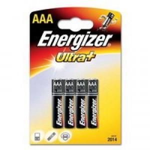 Energizer UltraPlus Battery Alkaline LR03 1.5V AAA Ref 637461 [Pack 4]