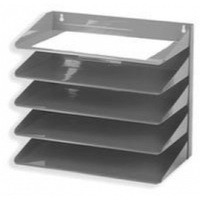 Avery Letter Rack 5-Tier Steel W380xD230xH335mm Grey Ref 605SGREY