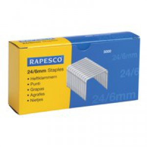 Rapesco Staples 24/6mm Ref S24602Z3 [Pack 5000]