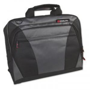 Monolith Nylon Laptop Messenger Bag Black and Grey 2400