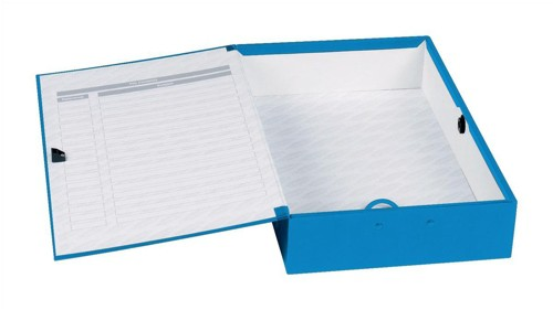Concord Classic Box File Paper-Lock Finger-Pull And Catch 75mm Spine Foolscap Blue Code C1278