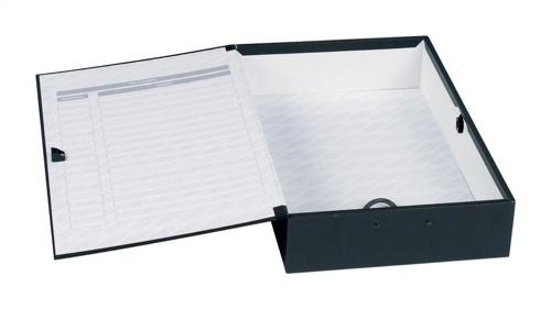 Concord Classic Box File 75mm Spine Foolscap Black Ref C1282 [Pack 5]