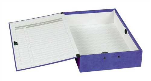 Concord Contrast Box File Laminated Paper-lock 75mm Spine Foolscap Purple Ref 13484 [Pack 5]