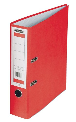 Concord Classic Lever Arch File With 5-Part Dividers 70mm Spine A4 Red Code C214041