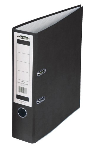 Concord Classic Lever Arch File With 5-Part Dividers 70mm Spine A4 Black Code C214046