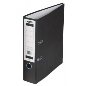 Concord Classic Lever Arch File Printed Lining Capacity 70mm Foolscap Black Ref C216056 [Pack 10]