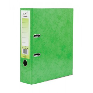 Concord Contrast Lever Arch File Laminated Capacity 65mm A4 Lime Ref 214702 [Pack 10]