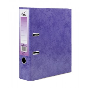 Concord Contrast Lever Arch File Laminated Capacity 65mm A4 Purple Ref 214705 [Pack 10]