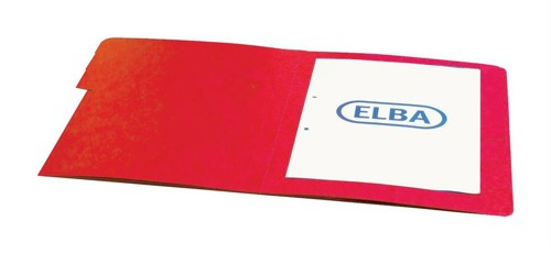 Elba Organiser File Pressboard Elasticated 5-Part Foolscap Red Ref 100090167 [Pack 5]