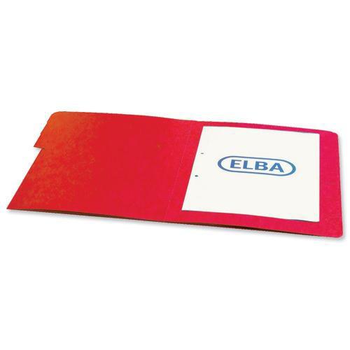Elba Boston Part File Pressboard Elasticated 9-Part Foolscap Red Ref 100090174 [Pack 5]
