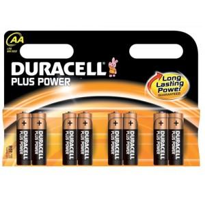 Duracell Plus Power Battery Alkaline 1.5V AA Ref 81275188 [Pack 8]