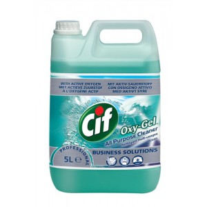 Cif Professional Oxygel All Purpose Cleaner Professional Active Oxygen Ocean 5 Litre Ref 7510015