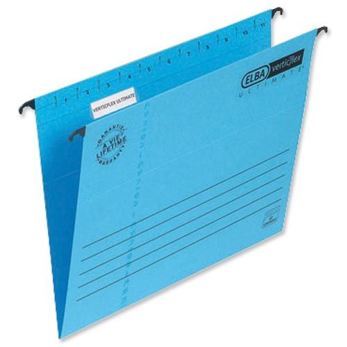 Elba Verticflex Ultimate Suspension File Manilla 240gsm A4 Blue Ref 100331149 [Pack 25]