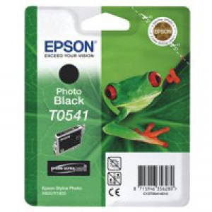 Epson T0541 Inkjet Cartridge Frog Page Life 400pp Photo Black Ref C13T05414010