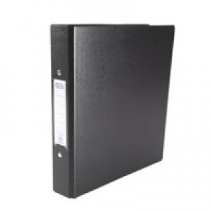 Elba Ring Binders Heavyweight PVC 2 O-Ring Size 25mm A5 Black Ref 100082442 [Pack 10]