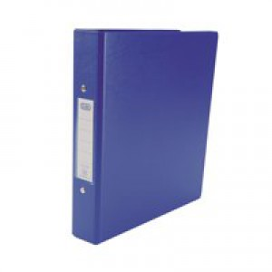 Elba Ring Binders Heavyweight PVC 2 O-Ring Size 25mm A5 Blue Ref 100082443 [Pack 10]