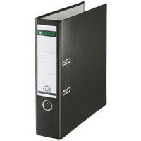 Leitz Lever Arch File Plastic 80mm Spine Foolscap Black Ref 11101195 [Pack 10]