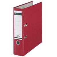 Leitz Mini Lever Arch File Plastic 52mm Spine A4 Red Ref 10151025 [Pack 10]