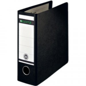 Leitz Board Lever Arch File Upright 77mm Spine A5 Black Ref 1075-00-95 [Pack 5]