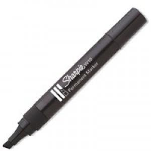 Sharpie W10 Permanent Marker Chisel Tip 1.2-5mm Line Black Ref S0192654 [Pack 12]