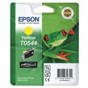 Epson T0544 Inkjet Cartridge Frog Page Life 400pp Yellow Ref C13T05444010