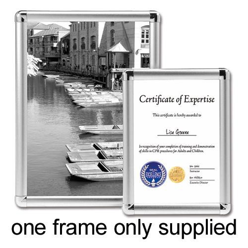 Display Frame Aluminium Front Loading with Fixings A1