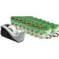 Scotch Magic Tape 810 Roll 19mmx33m Matt Ref 8-1933R16C60 [Pack 16 and C60 Dispenser]