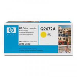 Hewlett Packard [HP] No. 309A Laser Toner Cartridge Page Life 4000pp Yellow Ref Q2672A