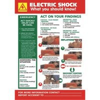 Stewart Superior Electric Shock Laminated Guidance Poster W420xH595mm Ref HS104