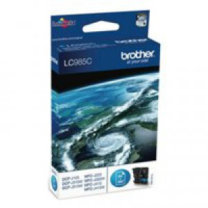 Brother DCP-J125/315W/515W MFC-J265W/J410/J615W Inkjet Cartridge Cyan Code LC985C