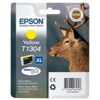 Epson T1304 Inkjet Cartridge DURABrite Stag XL Capacity 10.1ml Yellow Ref C13T13044010
