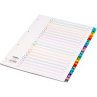 Concord Index Multicolour-tabbed Mylar-Reinforced 4 Holes 1-20 A4 White Ref CS19