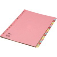 Concord Subject Dividers 230 Micron Reinforced A-Z A4 Assorted Ref 77299/72