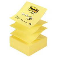 Post-it Z Notes 76x 76mm Canary Yellow Ref R330YE [Pack 12]
