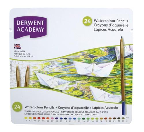 Derwent Academy Watercolour 24 Tin Code 2301942