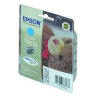 Epson T0612 Inkjet Cartridge Teddybear Page Life 250-420pp Cyan Ref C13T06124010