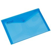 Rexel Popper Wallet Folder Polypropylene A4 Translucent Blue Ref 16129Bu [Pack 5]