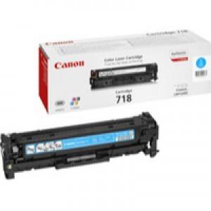 Canon CRG 718 Laser Toner Cartridge Cyan Code 2661B002AA