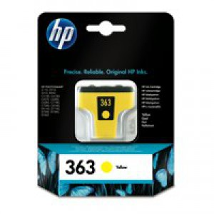 Hewlett Packard [HP] No. 363 Inkjet Cartridge Page Life 350pp 4ml Yellow Ref C8773EE