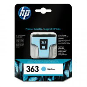Hewlett Packard [HP] No. 363 Inkjet Cartridge Page Life 350pp 4ml Light Cyan Ref C8774EE-ABB