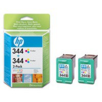 HP No.344 Inkjet Cartridge Tri-Colour Twin Pack Code C9505EE