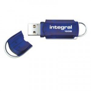 Integral Courier Flash Drive with LED Light USB 2.0 Read 12MB/s Write 3MB/s 16GB Ref INFD16GBCOU