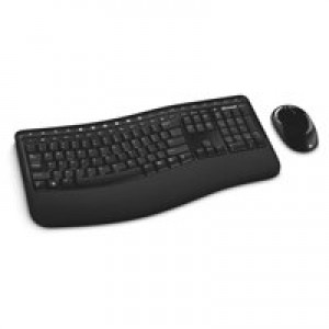 Microsoft 5000 Wireless Comfort Curve Keyboard and Mouse Black Ref CSD-00006