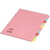 Concord Subject Dividers 230 Micron 10-Part A5 Ref 72199/J21 [Pack 10]