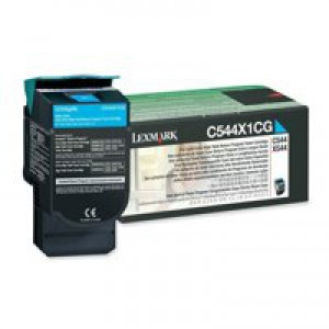 Lexmark C544 Extra High Return Program Cartridge Cyan Code C544X1CG
