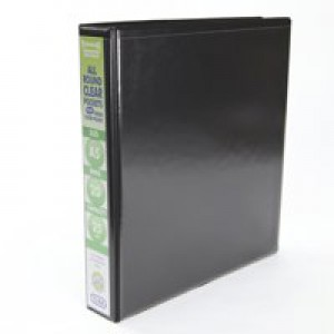 Emgee Presentation Ring Binder PVC 2 D-Ring 25mm Capacity A5 Black Code 570353