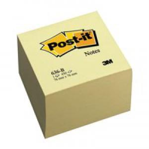 Post-It Note Block 636-B Yellow 76X76mm