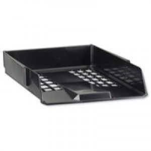 Avery Basics Letter Tray Stackable Versatile A4 Foolscap W278xD390xH70mm Black Ref 1132BLK